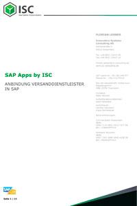 Anbindung Versanddienstleister in SAP®